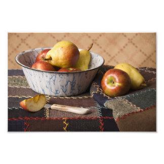 Cuenco 4044 de fruta en el edredón loco arte con fotos