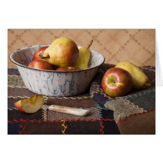 Cuenco 4044 de fruta en el edredón loco tarjeta de felicitación