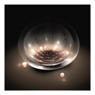 Cuenco abstracto de la flor del fractal arte con fotos