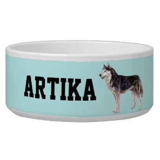 Cuenco adaptable del perro del husky siberiano tazones para perro