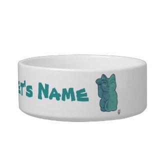Cuenco afortunado del mascota del gato de Tiki Comedero Para Mascota