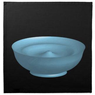 Cuenco azul de la pintura servilletas imprimidas