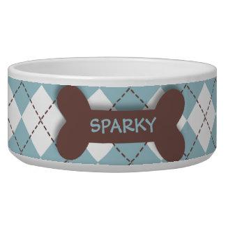 Cuenco azul personalizado del alimento para animal bol para perro