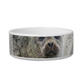 Cuenco blanco del mascota del sello del leopardo tazones para agua para gatos
