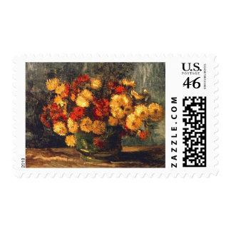 Cuenco con los crisantemos Vincent van Gogh