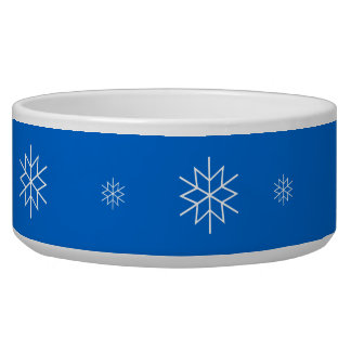Cuenco - copos de nieve blancos tazón para perro