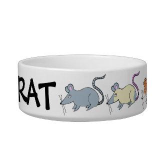 cuenco de alimentación de la rata comedero para mascota