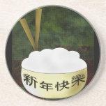 Cuenco de arroz de la Feliz Año Nuevo Posavaso Para Bebida