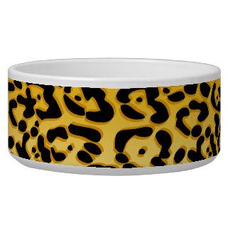 Cuenco de cerámica del ángel de la paz del guepard tazón para perro