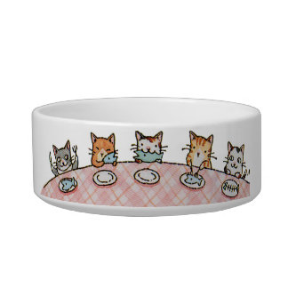 Cuenco de cerámica del gato del mascota del banque tazones para comida para gato