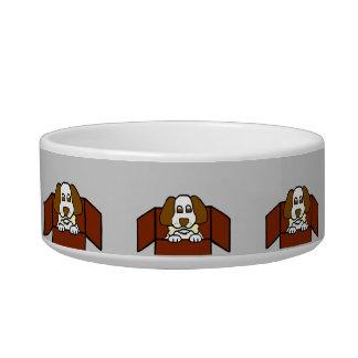 Cuenco de cerámica del mascota del perrito comedero para mascota