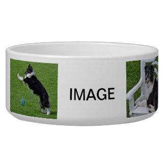 Cuenco de cerámica del perro - border collie tazones para perrros