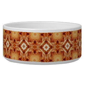 Cuenco de cerámica del perro con el modelo del oro boles para gatos