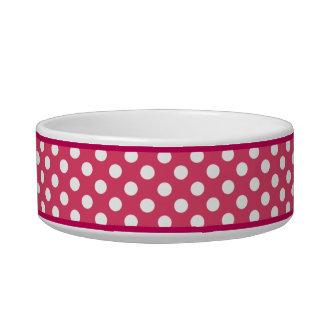 Cuenco de cerámica rosado del perro del modelo de  tazón para comida gato