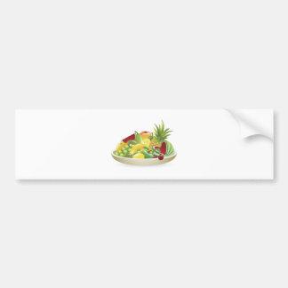 Cuenco de ejemplo de la fruta etiqueta de parachoque
