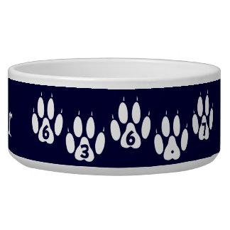 Cuenco de encargo del perro de Dewey Tazon Para Perro