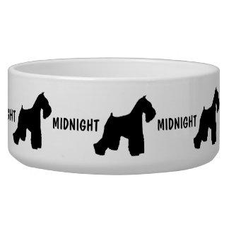 Cuenco de encargo del perro del Schnauzer miniatur Comedero Para Mascota