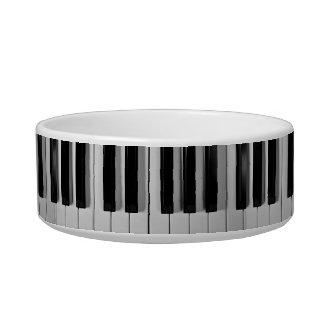 Cuenco de encargo del perro del teclado de piano comedero para mascota