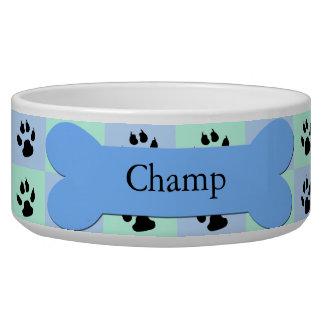Cuenco de encargo personalizado del perro -- Hueso Bol Para Perro