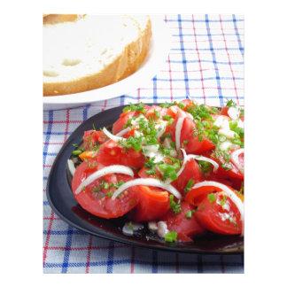 cuenco de ensalada vegetariana plantillas de membrete