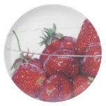 Cuenco de fresas plato para fiesta