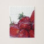 Cuenco de fresas rompecabeza con fotos