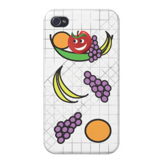 Cuenco de fruta divertido iPhone 4/4S funda