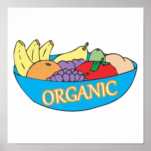 cuenco de fruta orgánico poster