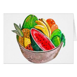 Cuenco de fruta tarjeta de felicitación