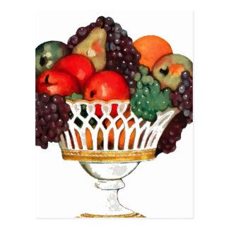 Cuenco de fruta postal
