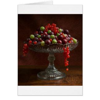 Cuenco de fruta tarjetas