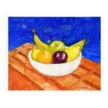 Cuenco de fruta tarjetas postales
