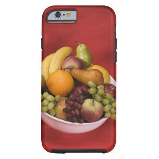 Cuenco de frutas frescas funda de iPhone 6 tough