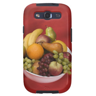 Cuenco de frutas frescas samsung galaxy s3 cárcasas