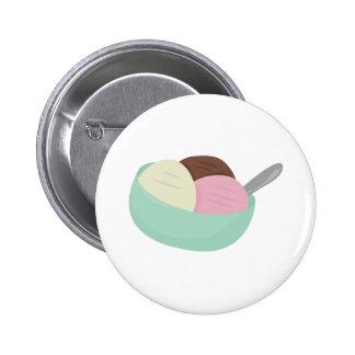 Cuenco de helado pin redondo 5 cm
