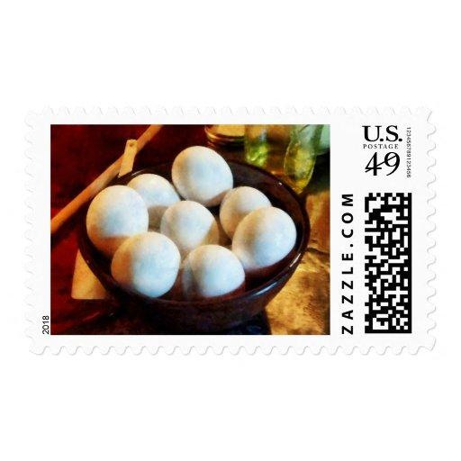 Cuenco de huevos sello