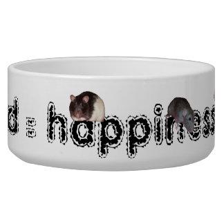 cuenco de la alimentación de la rata bol para perro