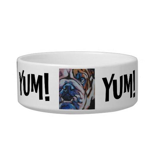 ¡Cuenco de la comida de perro del arte pop del dog Tazón Para Agua Para Gatos