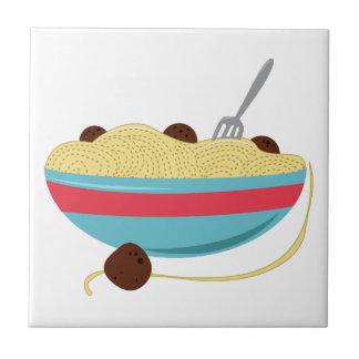 Cuenco de los espaguetis tejas  ceramicas