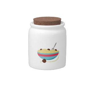 Cuenco de los espaguetis jarras para caramelos