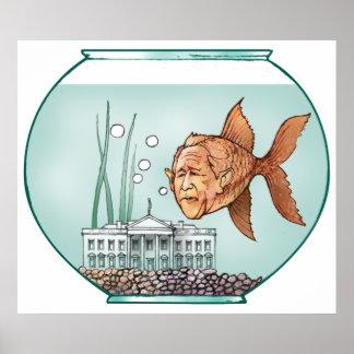 Cuenco de los pescados de la Casa Blanca Posters