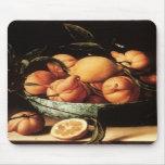 Cuenco de Louise Moillon de los naranjas de Curaça Alfombrillas De Ratones