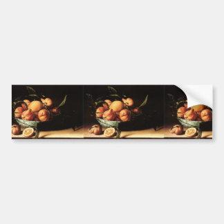 Cuenco de Louise Moillon de los naranjas de Pegatina Para Auto