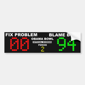 Cuenco de Obama - el anotar oficial Etiqueta De Parachoque
