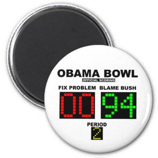 Cuenco de Obama - el anotar oficial Imán Redondo 5 Cm
