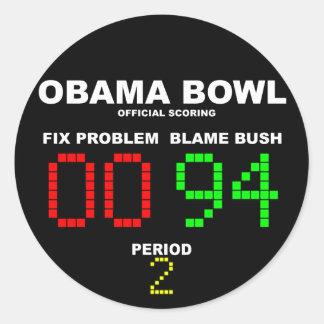 Cuenco de Obama - el anotar oficial Etiquetas Redondas