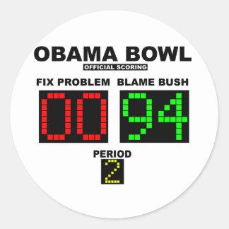 Cuenco de Obama - el anotar oficial Etiqueta Redonda