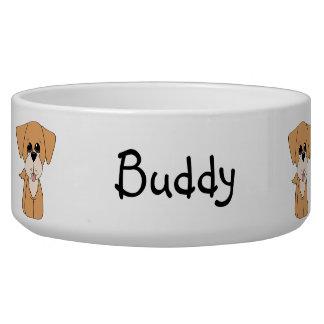 Cuenco de oro del perro de Retreiver Tazon Para Perro