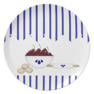 Cuenco de placa de las cerezas platos para fiestas