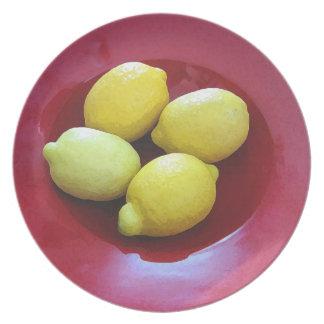 Cuenco de placa de los limones platos para fiestas